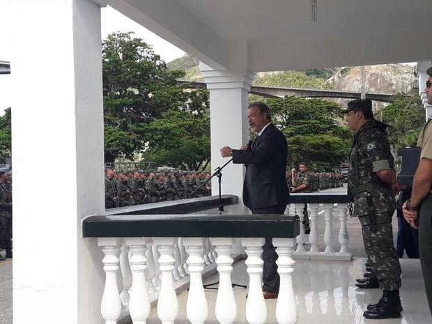 Ministro da Defesa faz balanço da atuação das Forças Armadas no Espírito Santo (Foto: Manoela Albuquerque/ G1)