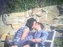 Katy Perry e Orlando Bloom trocam beijos apaixonados