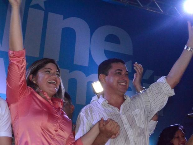 Aline Gurgel Márcio Costa Amapá Eleições 2016 (Foto: Abinoan Santiago/G1)