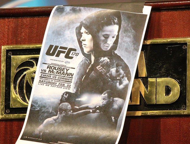 cartaz UFC 170 Ronda Rousey (Foto: Evelyn Rodrigues)