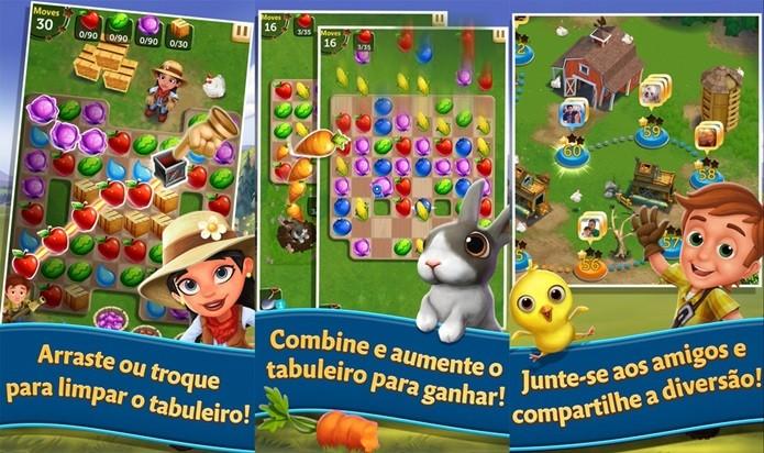 Os personagens fofinhos de FarmVille em um divertido jogo casual (Foto: Divulgação)