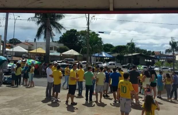 Protesto em Mineiros, GOiás (Foto: Divulgação)