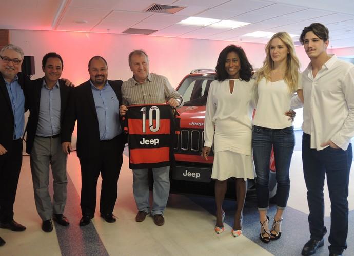 Flamengo Zico Gloria Maria Fiorella Mattheis Rômulo Arantes lançamento nova  camisa (Foto  Sofia Miranda 4e5e1d4ff67e2