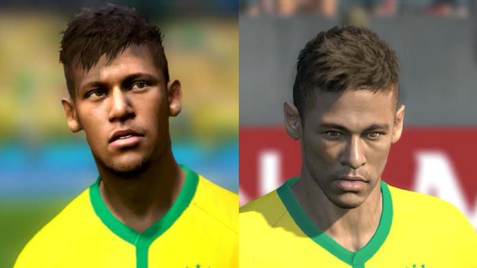 ... Copa do Mundo Fifa Brasil 2014. O craque Neymar está entre os mais  caprichados em ambos os jogos (Foto  Reprodução 485cb3a19737f
