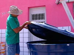Chuva ameniza falta d'água em Luís Gomes, no RN (Foto: Reprodução/Inter TV Cabugi)