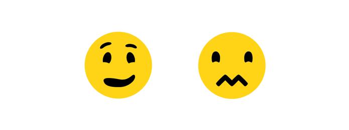 Emoticon confuso ganhou boca em zig-zag (Foto: Reprodução/Emojipedia)