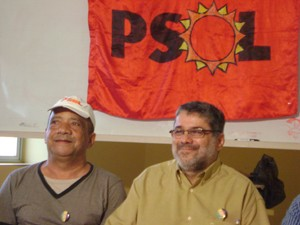 PSOL anunciou segunda candidatura consecutiva de Sizenando à prefeitura de CG (Foto: Rafael Melo/G1)