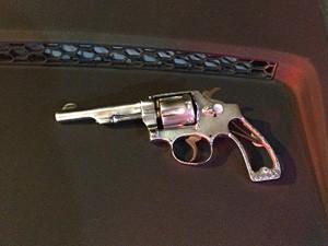 Arma usada em crimes foi apreendida pela Polícia Militar do DF (Foto: Polícia Militar/Divulgação)
