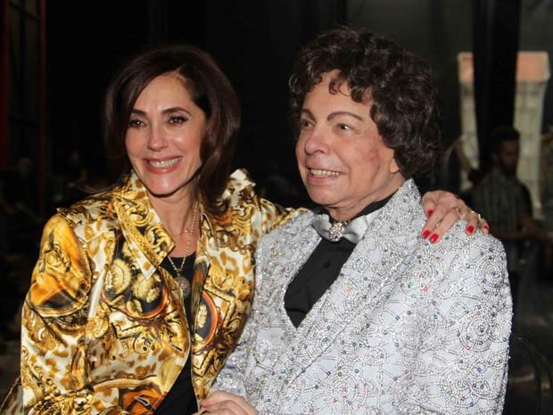 Christiane Torloni e Cauby Peixoto após show em São Paulo (Foto: Thiago Duran/ Ag. News)