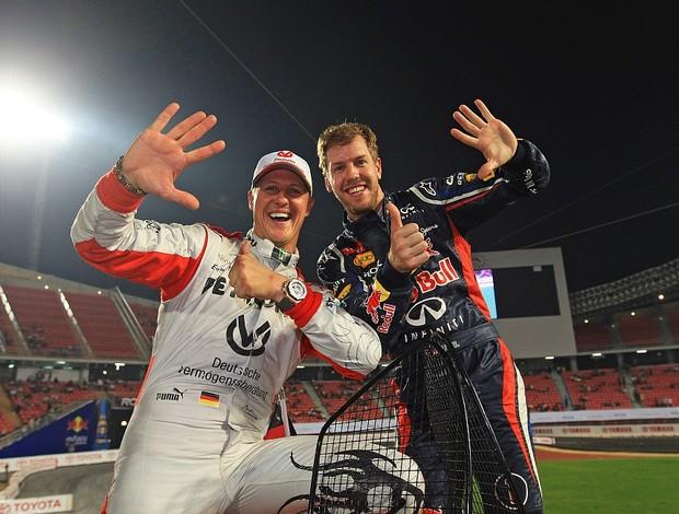 Michael Schumacher tênis Sebastian Vettel Race of Champions Bangcoc (Foto: Divulgação)