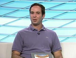 Caio Ribeiro no Arena SporTV (Foto: Wagner Bordin/SporTV.com)