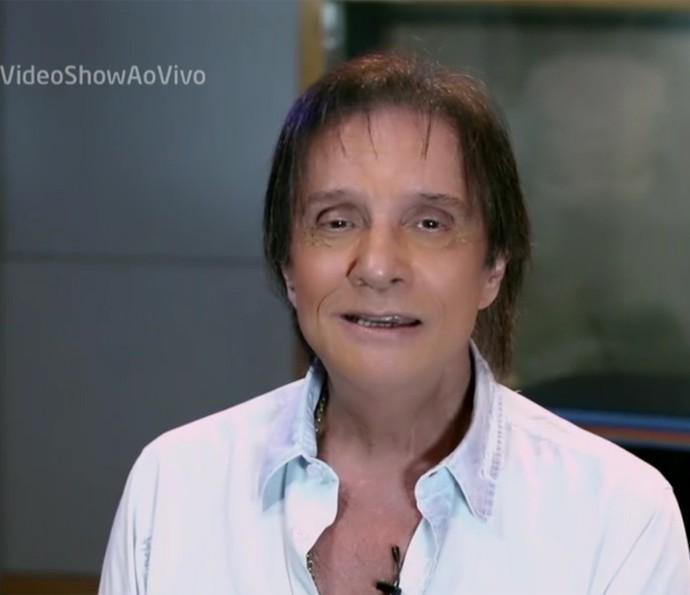 Roberto Carlos elogia Maurício Mattar (Foto: Vídeo Show / TV Globo)