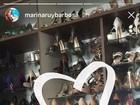 Marina Ruy Barbosa mostra parte da sua coleção de sapatos grifados