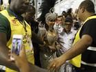 Anitta chega para desfile da Mocidade com forte esquema de segurança