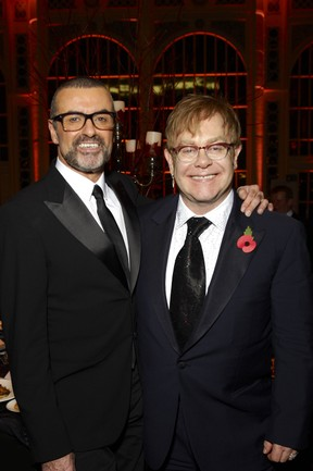 George Michael e Elton John (Foto: Getty Images)