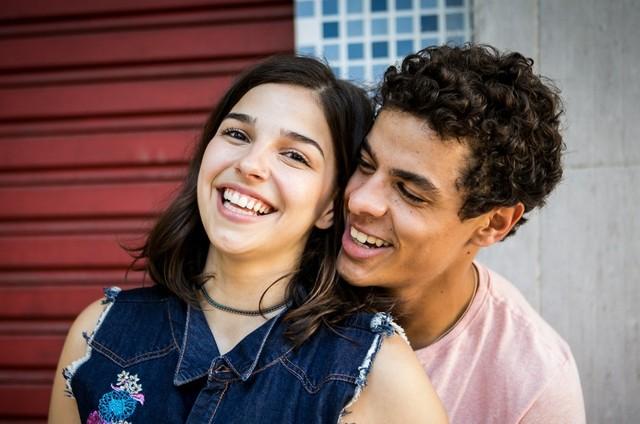 Gabriela Medvedovski e Matheus Abreu são Keyla e Tato em 'Malhação' (Foto: TV Globo)