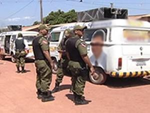 Segurança Eleição Santarém (Foto: Reprodução/TV Tapajós)