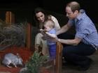 Fofo! William e Kate Middleton levam o filho ao zoológico, na Austrália