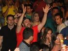 Tiago Abravanel se diverte durante show de Ivete Sangalo em Maceió