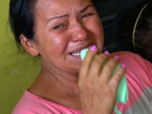 Mãe de PM morto durante assalto em Parnamirim, na Grande Natal (Foto: Reprodução/Inter TV Cabugi)