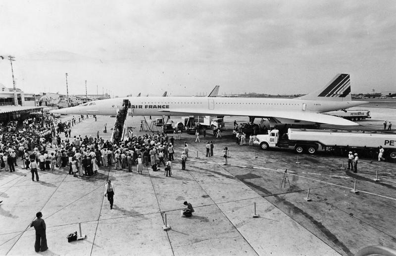 A chegada do Concorde ao Galeão