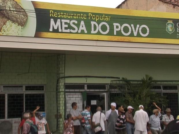 Restaurante Popular de Fortaleza (Foto: TV Verdes Mares/Reprodução)