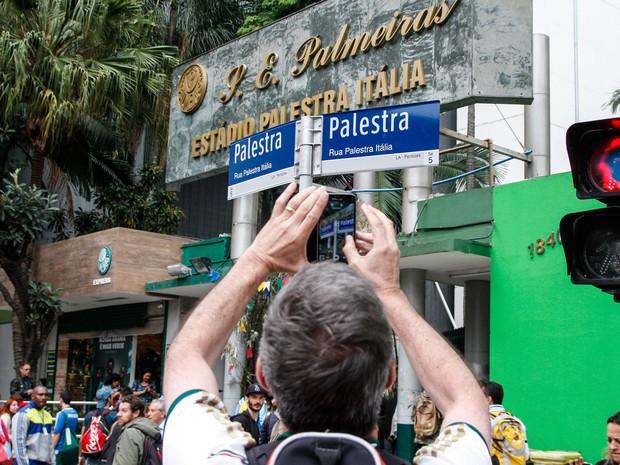 Rua Palestra Itália é o nome da antiga Rua Turiassu no trecho (Foto: Alê Vianna/Eleven/Estadão Conteúdo)