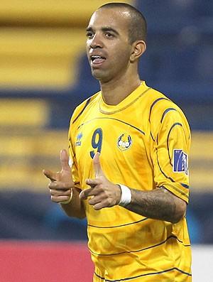 Diego Tardelli comemora gol doAl-Gharafa contra o Al-Hilal (Foto: AFP)