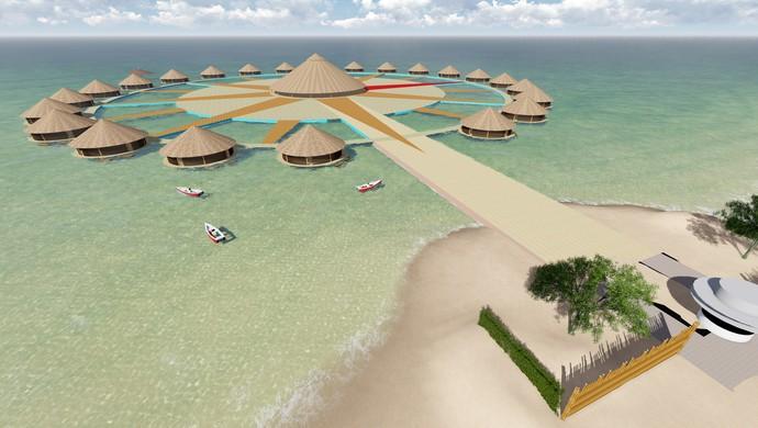 Aldeia para abrigar as etnias brasileiras deve ser construida sobre o grande lago de Palmas (Foto: Reprodução/Prefeitura de Palmas)