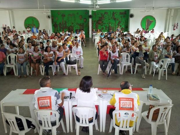Grevistas da Saúde do Rio Grande do Norte decidiram suspender paralisação (Foto: Henrique Dovalle/G1)