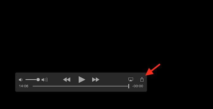 Acessando as opções de compartilhamento do Quicktime do Mac OS (Foto: Reprodução/Marvin Costa)