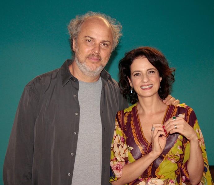 Luiz Villaça e Denise Fraga falam sobre novo filme (Foto: Marcos Mazini/Gshow)