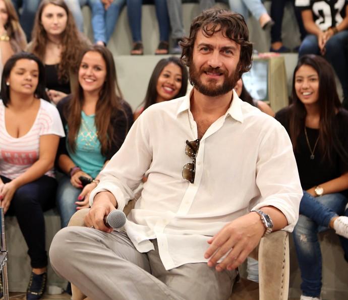 Gabriel Braga Nunes participa da gravação do Altas Horas (Foto: Carol Caminha/Gshow)