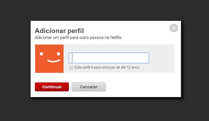 Adicione um perfil (Foto: Thiago Barros/TechTudo)