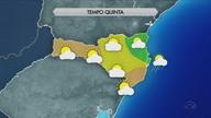 Sol aparece com chances de chuva em regiões isoladas de SC nesta quinta (22)