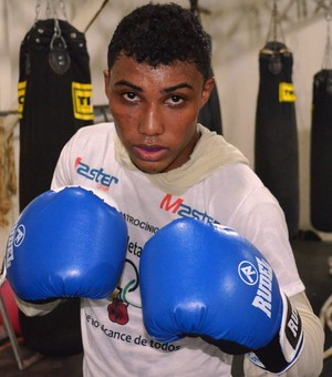 Guidson Pereira é promessa no Brasileiro Adulto de Boxe (Foto: Tércio Neto/GloboEsporte.com)