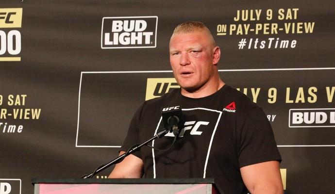 Brock Lesnar Coletiva UFC 200 (Foto: Evelyn Rodrigues)