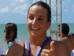 Vanessa Bley, campeã da Travessia Batalha Naval do Riachuelo (Foto: Cadu Vieira)