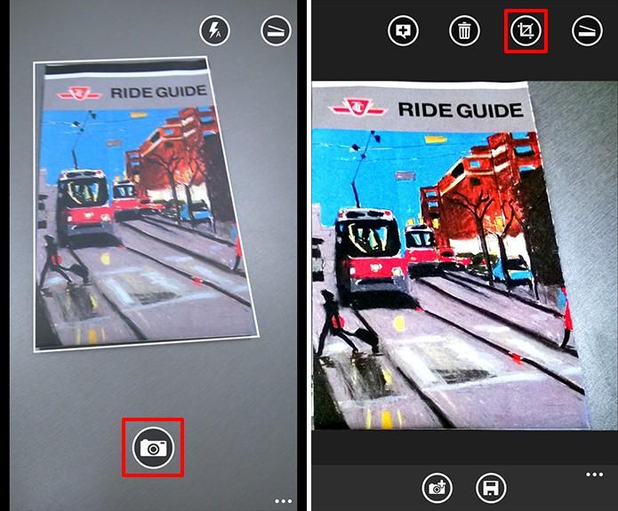 Office Lens tentará reconhecer objeto a ser escaneado, mas é possível corrigir erros posteriormente (Foto: Reprodução/Elson de Souza)