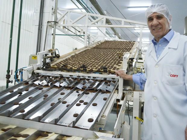 Biscoitos Hipopó são produzidos em indústria em Ribeirão Preto (Foto: Adriano Oliveira/G1)