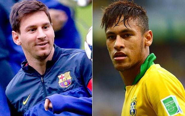 Messi e Neymar (Foto: Reprodução/SporTV)