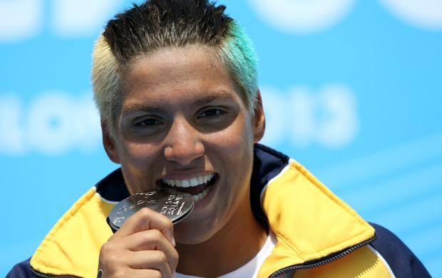 Ana Marcela, da maratona aquática, no Mundial de Barcelona (Foto: Satiro Sodré / SS Press)