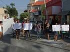 Grupo protesta em Promissão e pede posição sobre reintegração de área