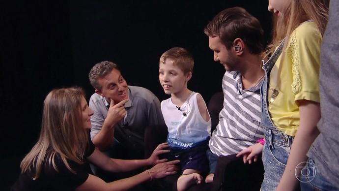 Tiago possui uma síndrome rara (Foto: TV Globo)