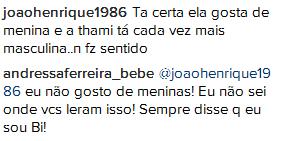 Andressa Ferreira rebate seguidor (Foto: Reprodução/Instagram)