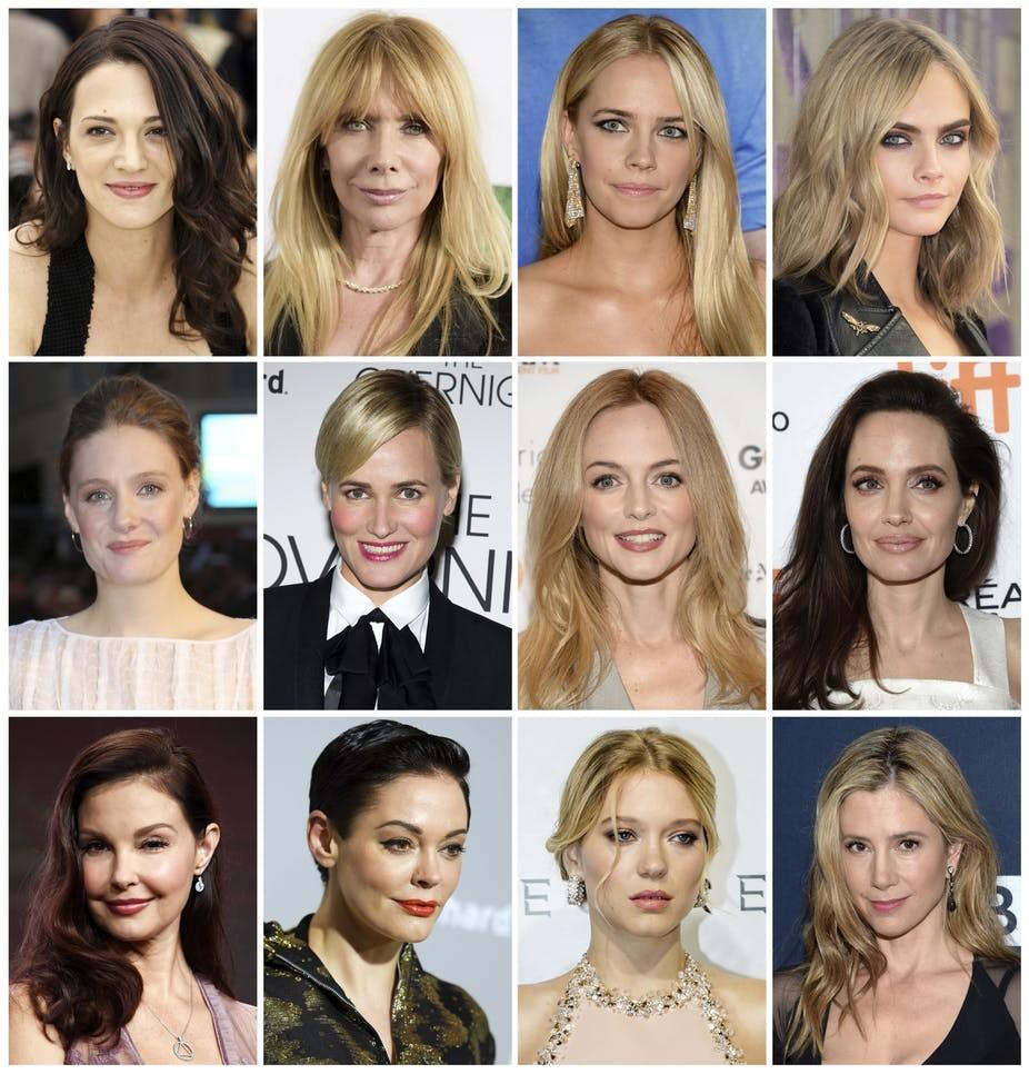 Mulheres de Hollywood que se pronunciaram contra a violência sexual (Foto: Reprodução)