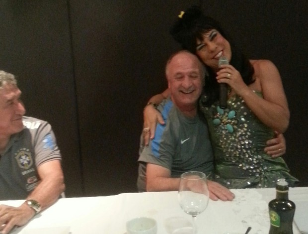 comediante seleção brasil Ciro virginia e felipão (Foto: Divulgação)