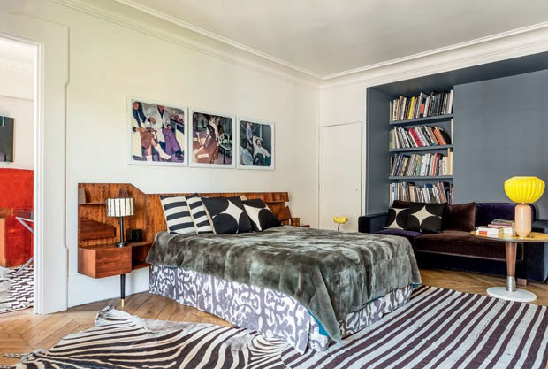 Apartamento da designer India Mahdavi (Foto: Ricardo Labougle)