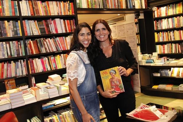 Malu Mather Lançamento do livro de Bela Gil na Saraiva do Shopping Leblon (Foto: Marcos Ferreira / Brazil News)
