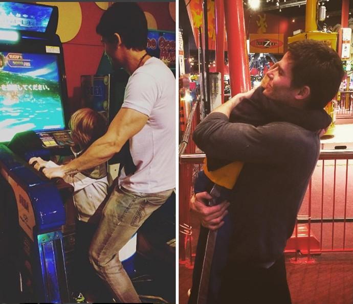 Jonatas em momento fofo com o filho Guy (Foto: Reprodução Instagram)